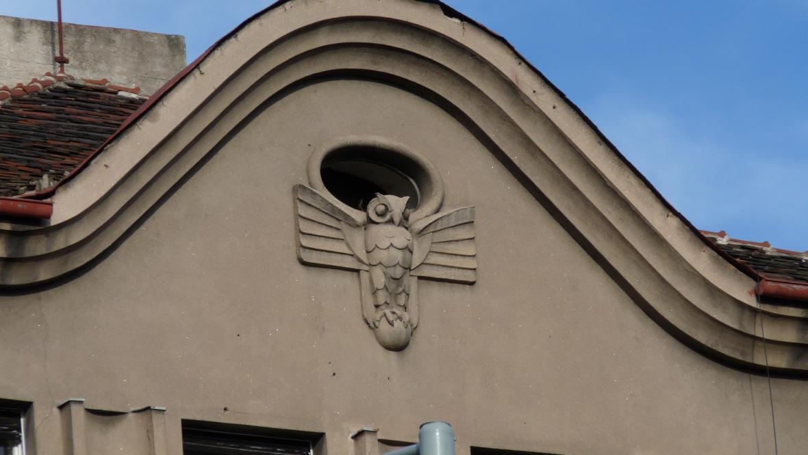 Hradešínská ulice - detail vily