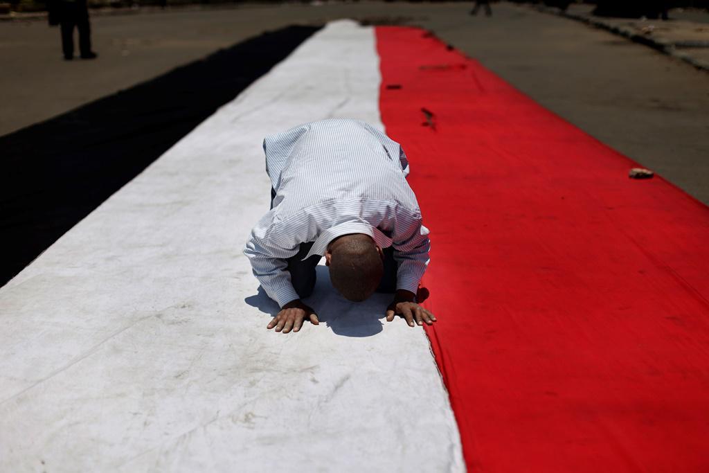 Podporovatel Muhammada Mursího