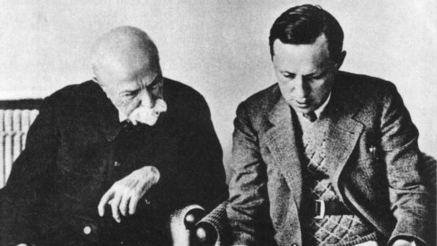 Masaryk s Karlem Čapkem