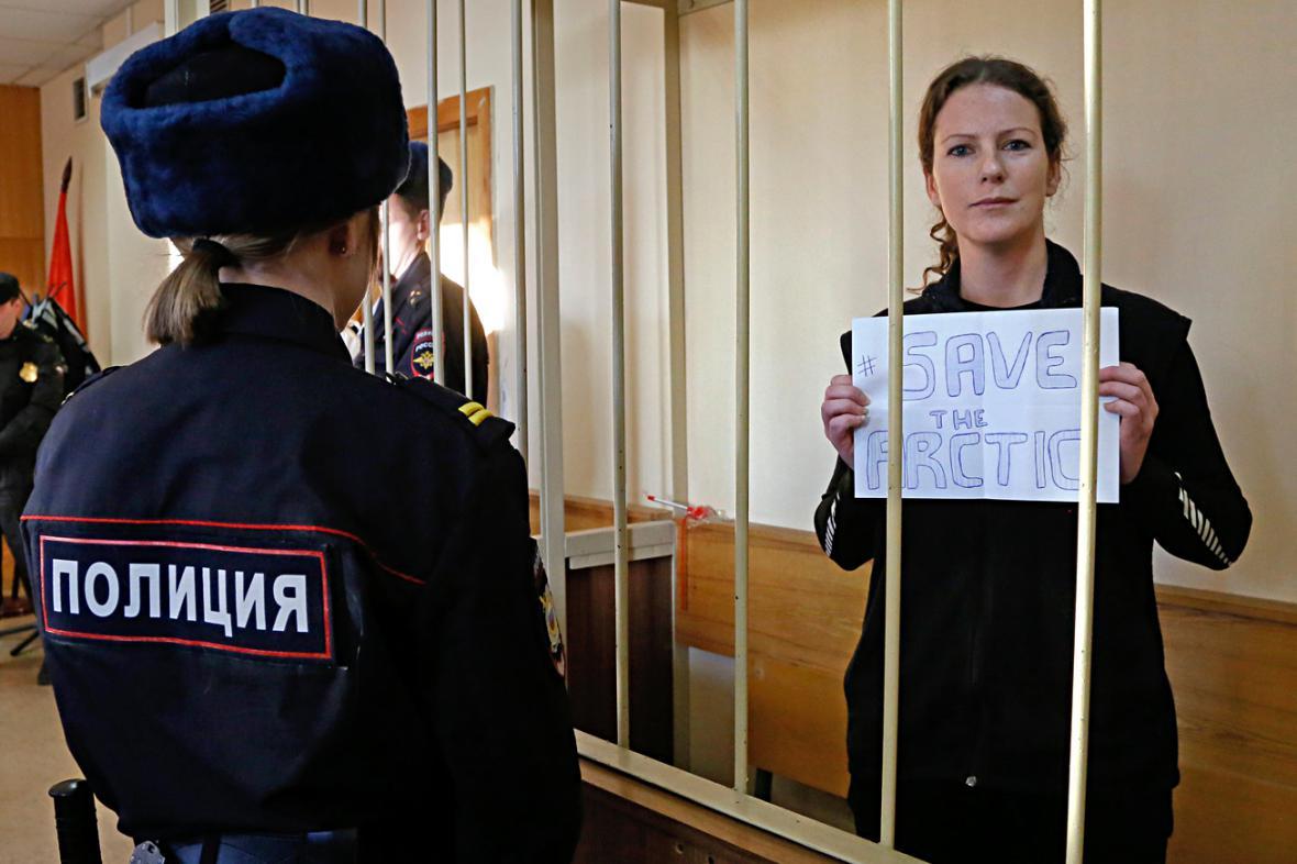 Ana Paula Alminhana Macielová u ruského soudu
