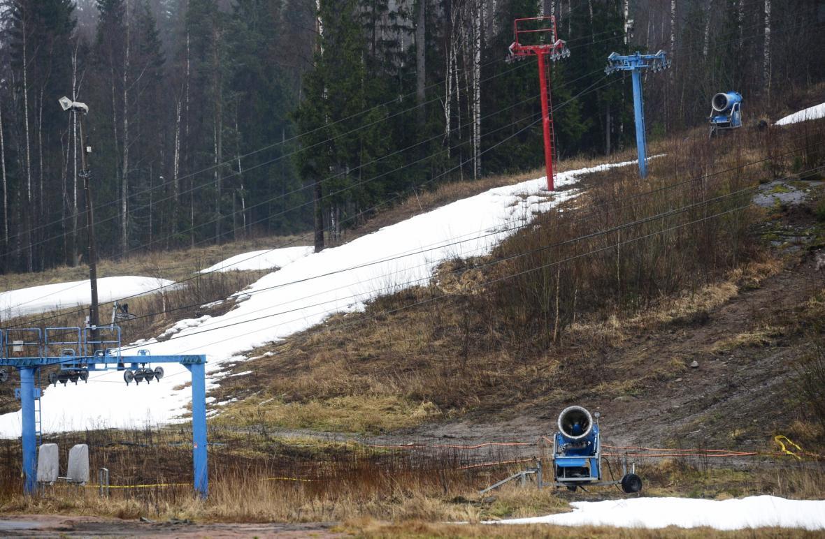 Lyžařské středisko ve Vihti v jižním Finsku