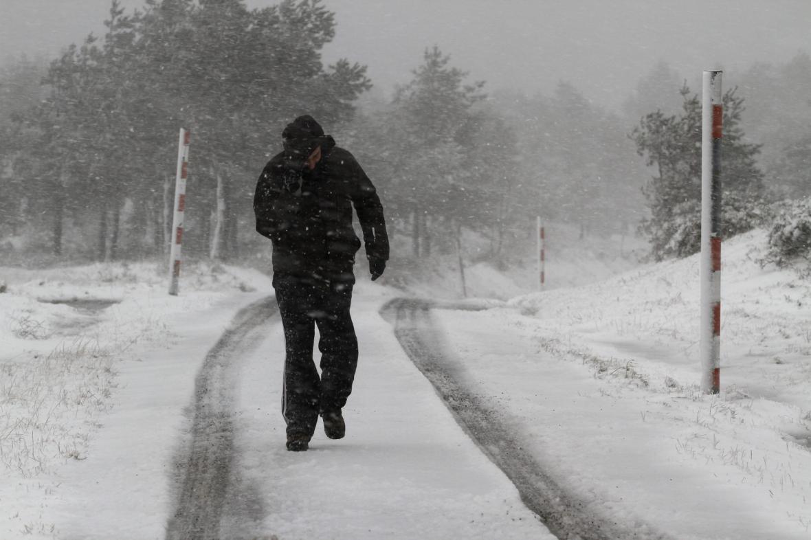 Sníh ve španělské Galicii