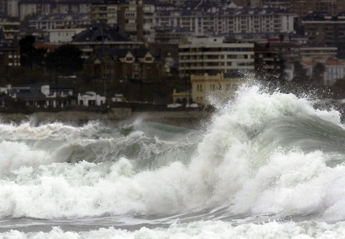 Bouře v severním Španělsku