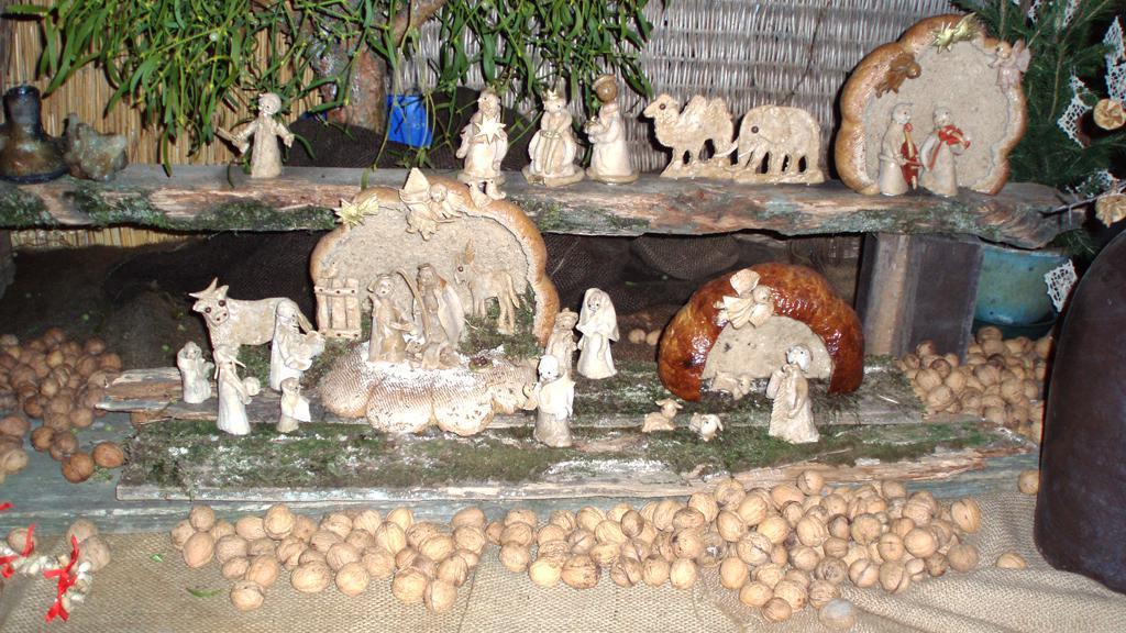 Chlebový betlém na výstavě Tradice Českých Vánoc