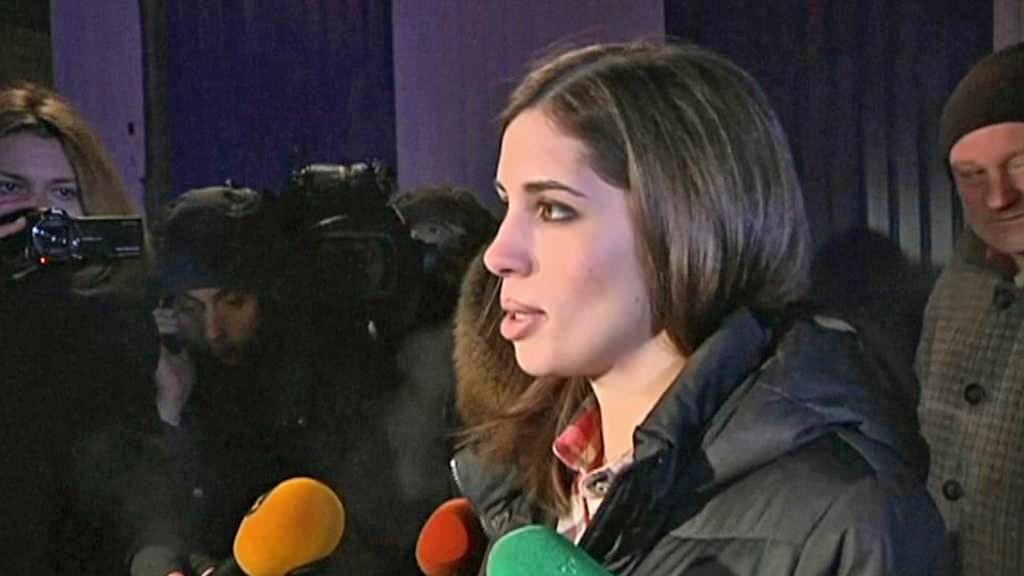 Naděžda Tolokonnikovová po propuštění