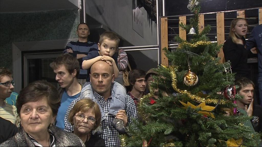 Vánoční show si nenechal ujít ani dálkový plavec Rostislav Vítek