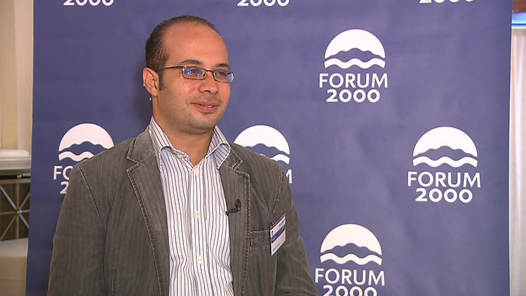 Egyptský bloger Ahmed Maher