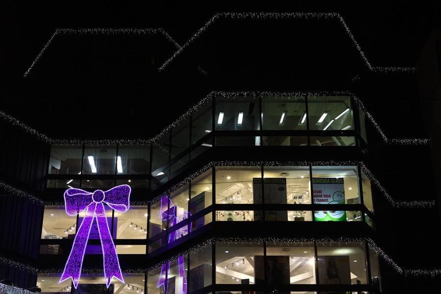 Vánoční výzdoba obchodního domu Kotva
