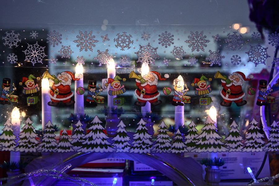Vánoční výzdoba vietnamské večerky