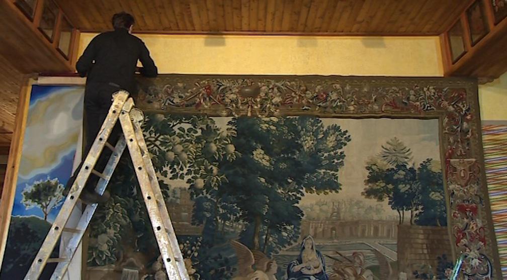 Vystavení barokního gobelínu