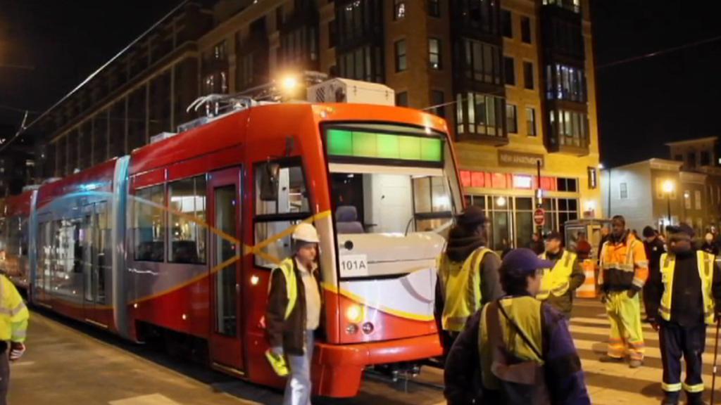 Testování nové tramvaje