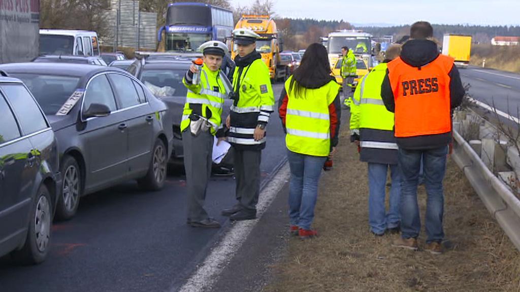 Policisté u nehod na D1
