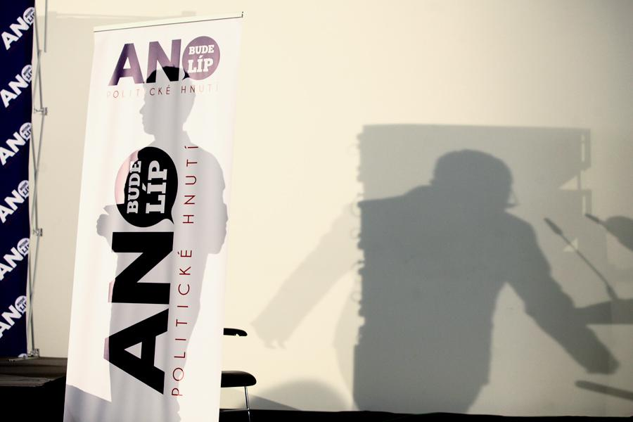Ve štábu hnutí ANO před vyhlášením výsledků voleb