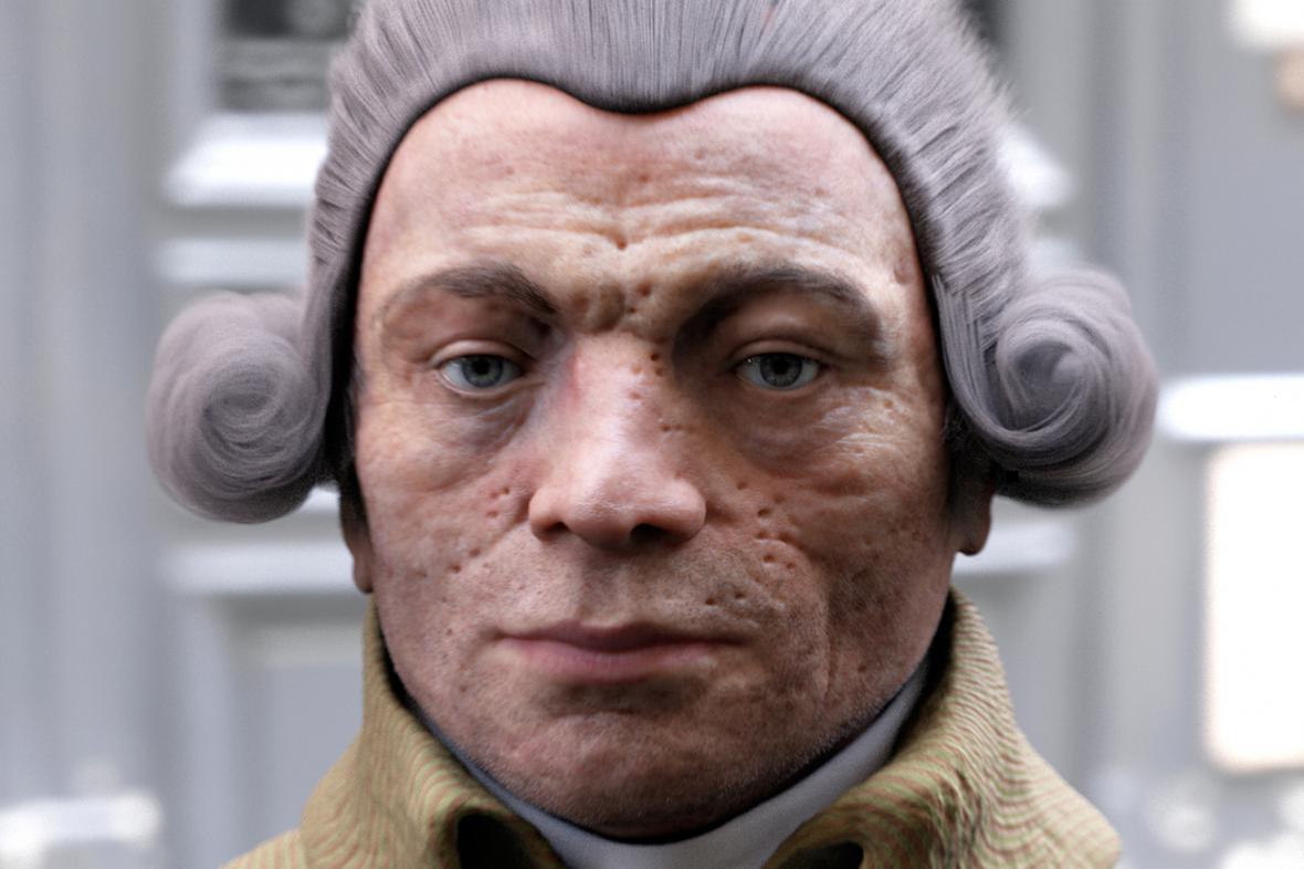 Rekonstrukce tváře Maximiliena Robespierra
