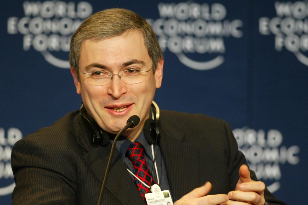 Michail Chodorkovskij v Davosu v lednu 2003