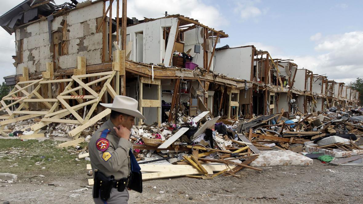 Poničené domy ve Westu