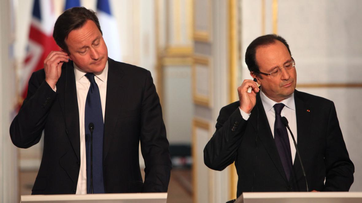 David Cameron a François Hollande