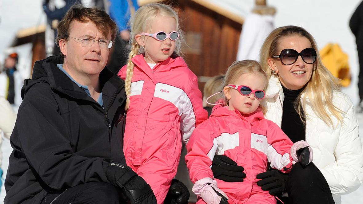 Princ Johan Friso a princezna Mabel s dětmi