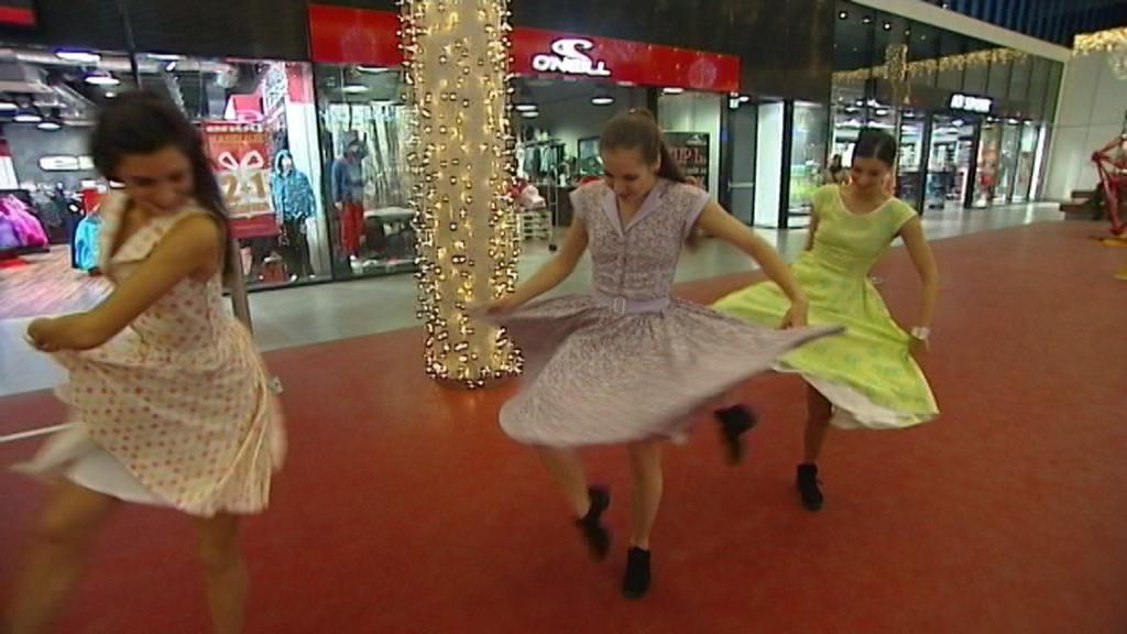 Tanec v hypermarketu