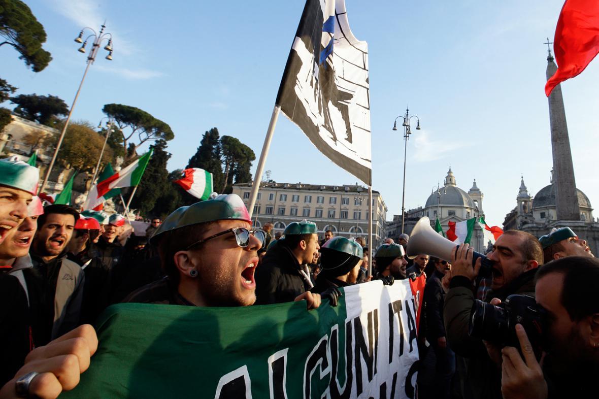 Protivládní protesty v Římě