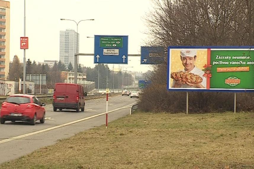 Reklama v blízkosti silnic