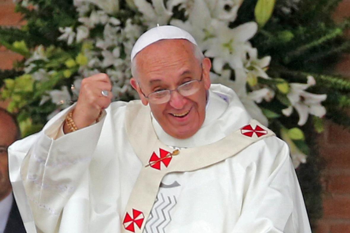 Papež František zdraví poutníky v Aparecidě