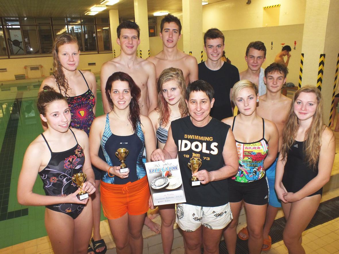 Plavecké závody v Boskovicích