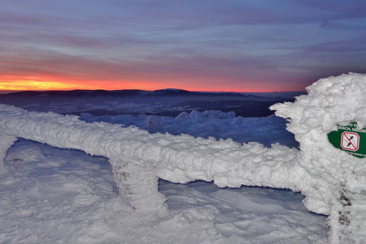 Zima v Jesníkách