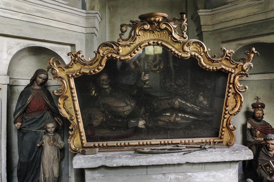 Malba na zámku Jezeří