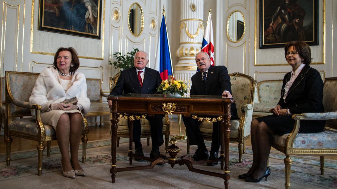 Livia Klausová jako první dáma při návštěvě Slovenska