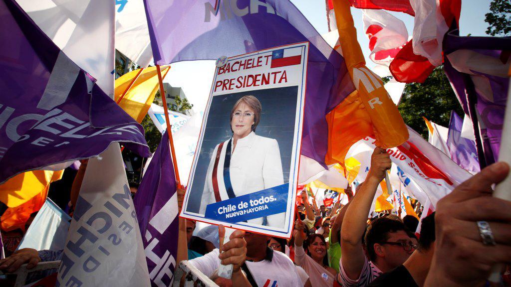 Stoupenci Michelle Bacheletové