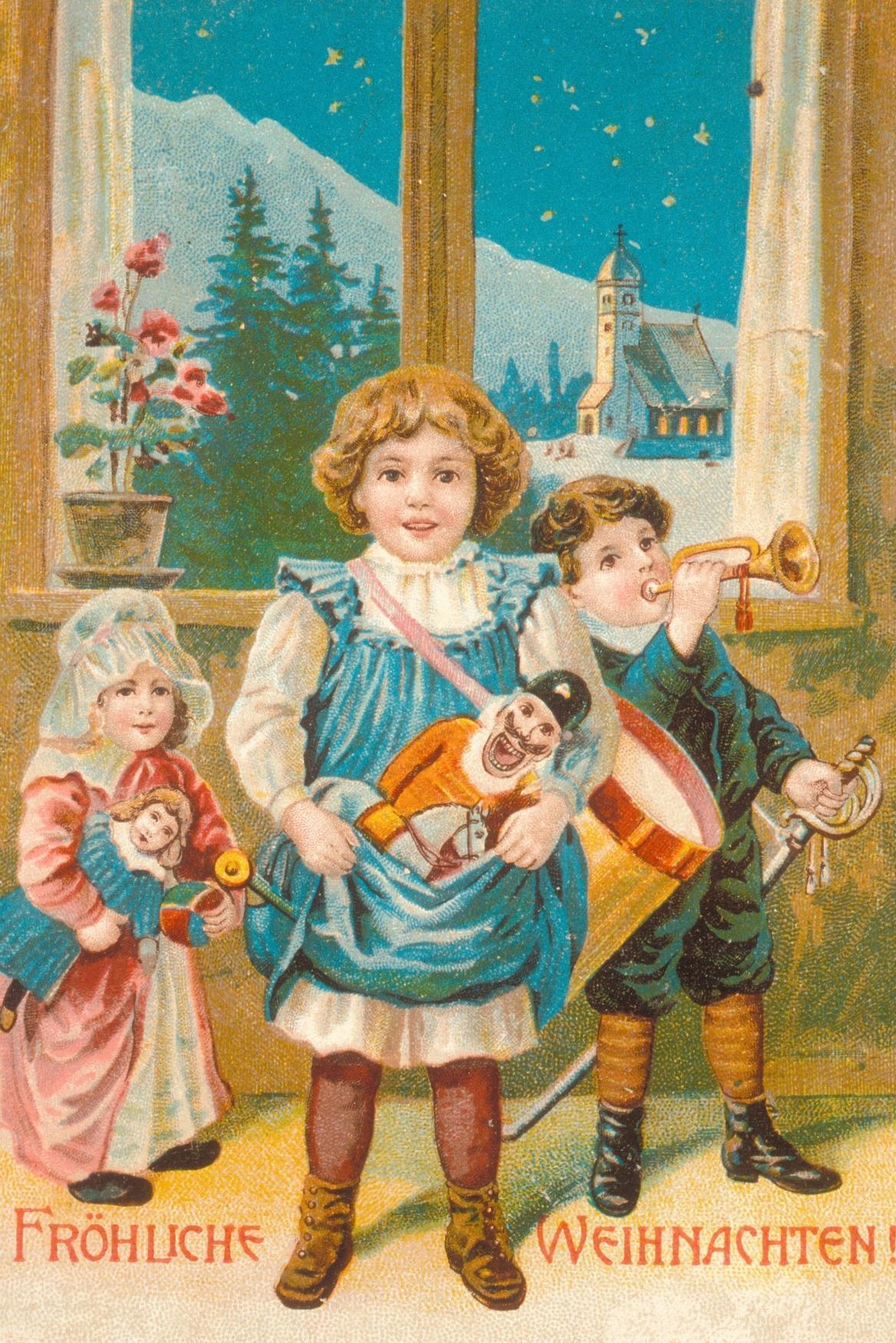 Historická vánoční pohlednice