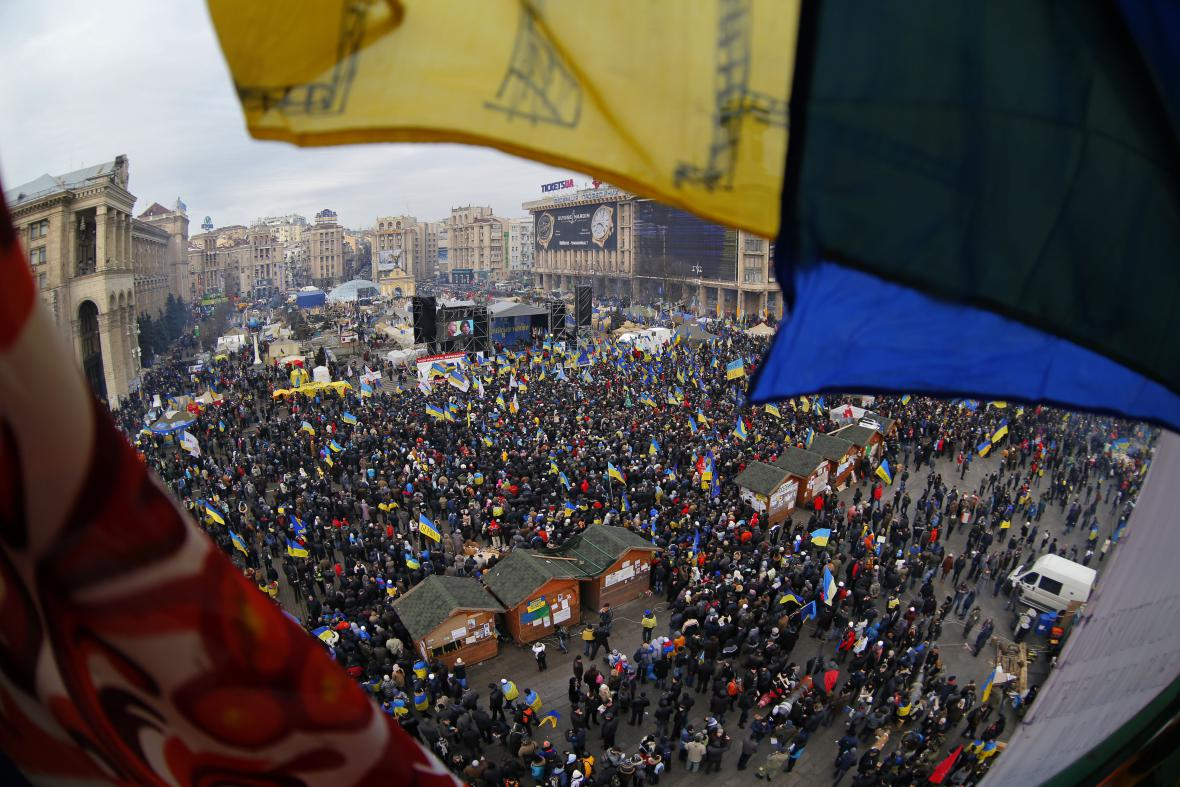 Protesty na Ukrajině
