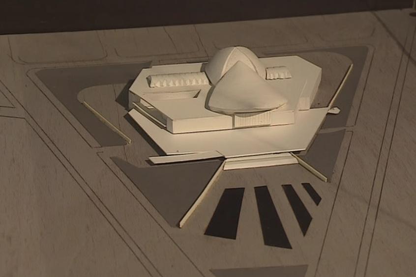 Model stavby architekta Ivana Rullera
