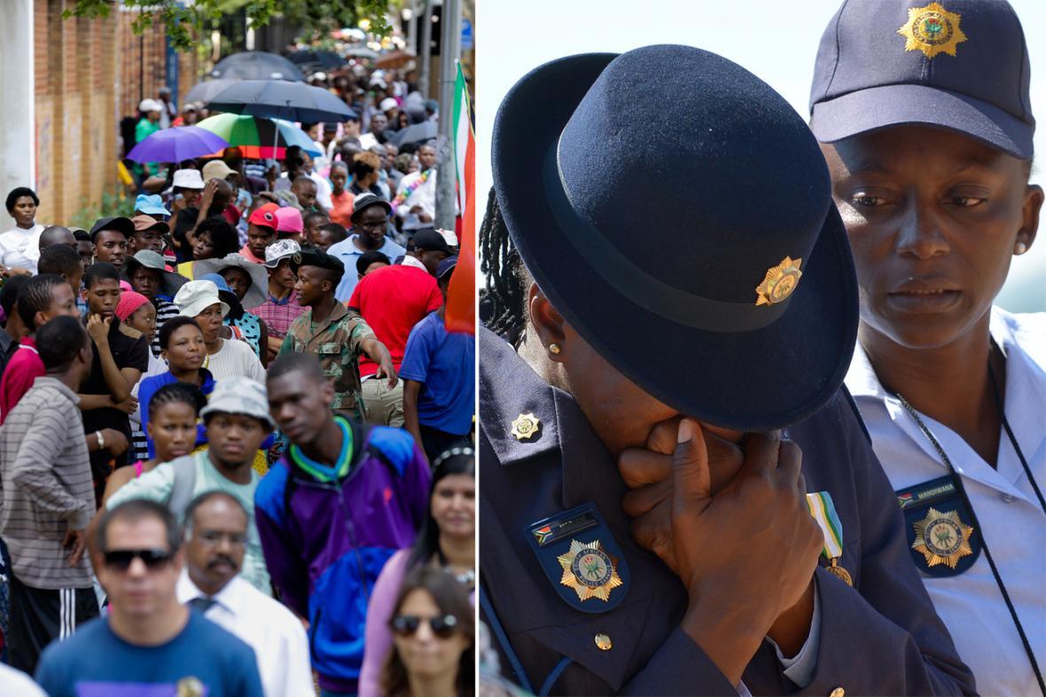 Jihoafričané truchlí za Nelsona Mandelu
