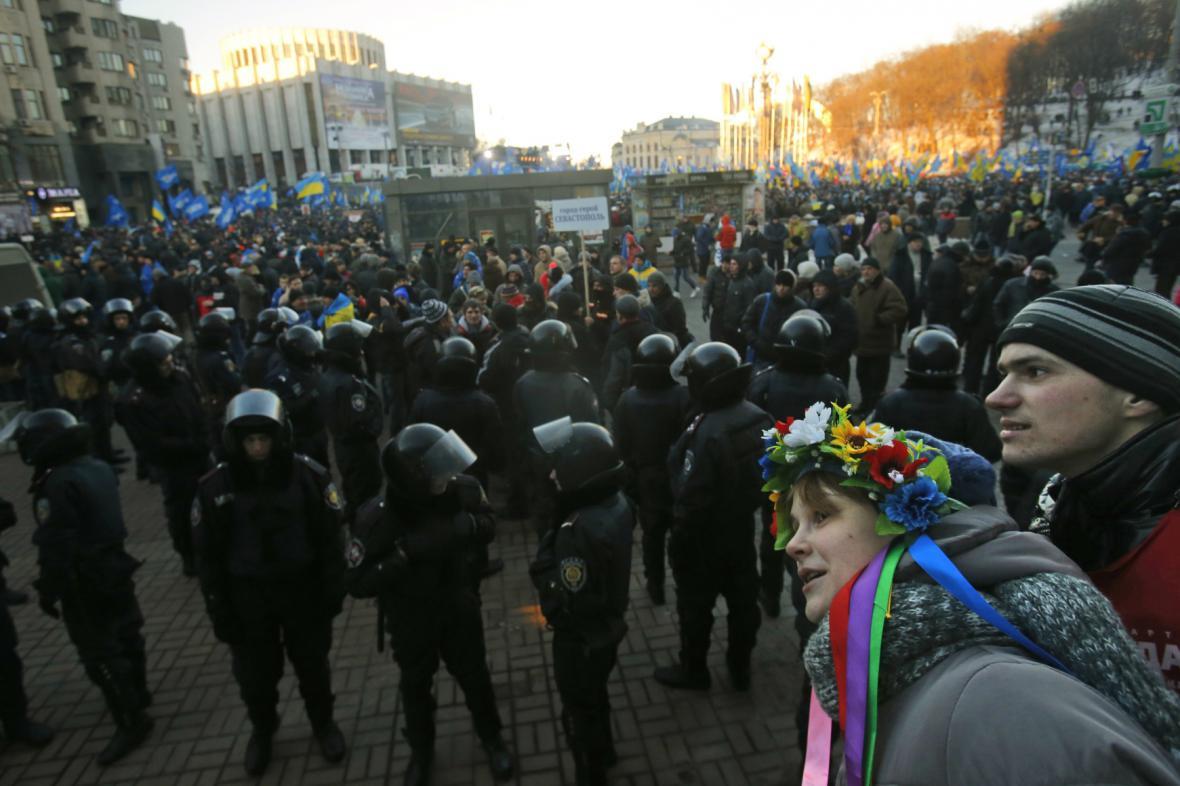 Policie dohlíží na bezpečnost v centru Kyjeva