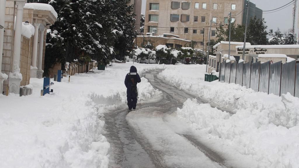Sníh na Západním břehu