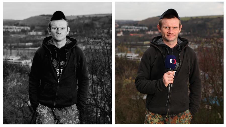 Bezdomovec Miloš - moderátor počasí v ČT