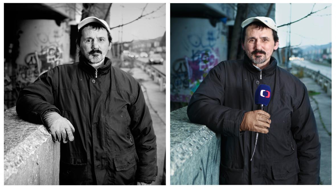 Bezdomovec Honza - moderátor počasí v ČT