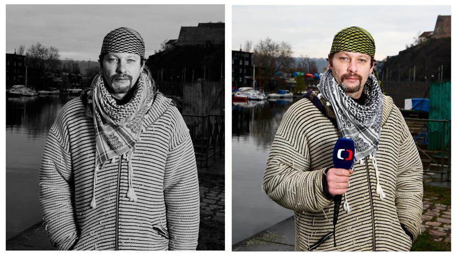Bezdomovec Petr - moderátor počasí v ČT