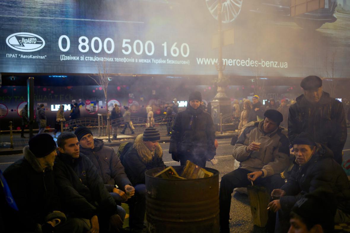 V Kyjevských ulicích byl v noci klid