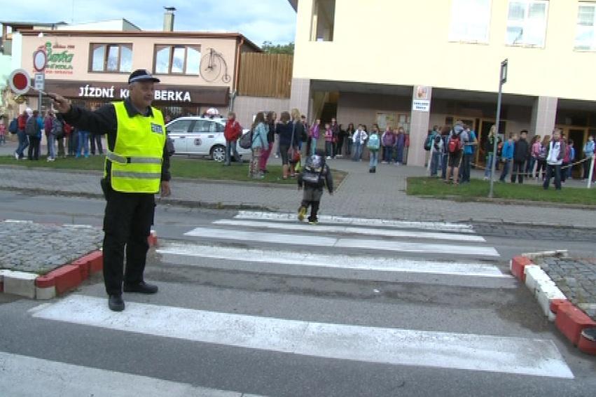Strážník u přechodu