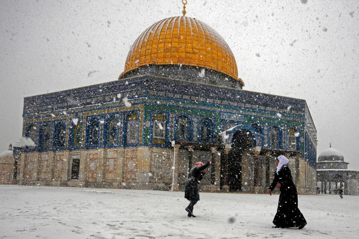 Sníh v Jeruzalémě