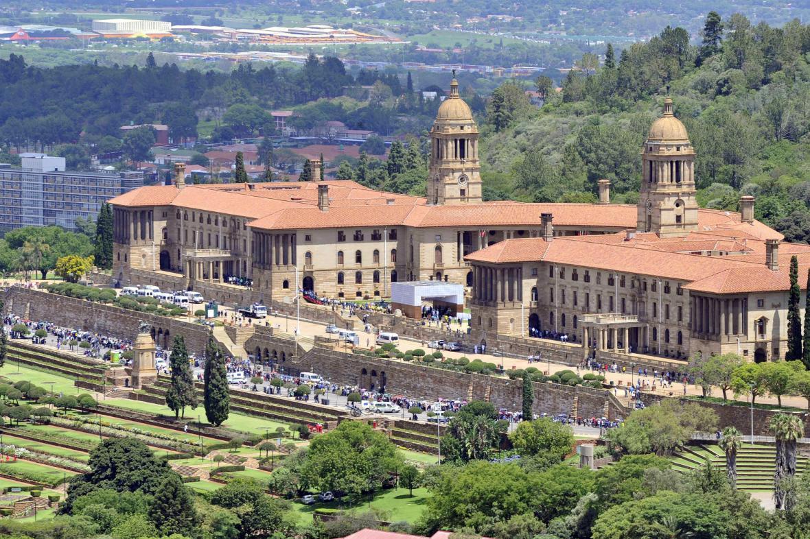 Mandelova rakev je vystavena v sídle vlády v Pretorii