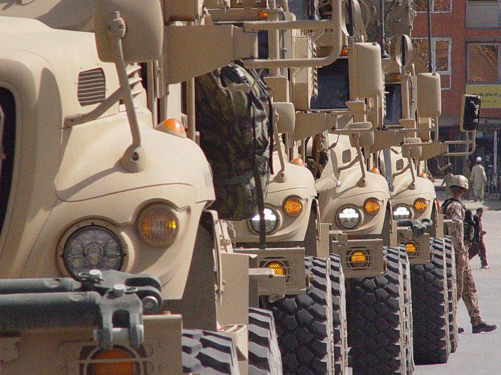 Vozidla MRAP 8. jednotky PRT Afghánistán