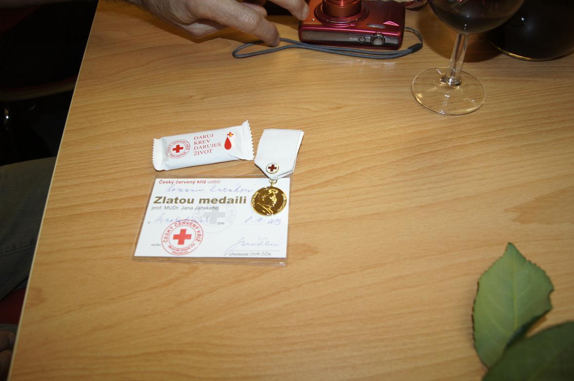 Z oceňování bezpříspěvkových dárců krve v Prachaticích