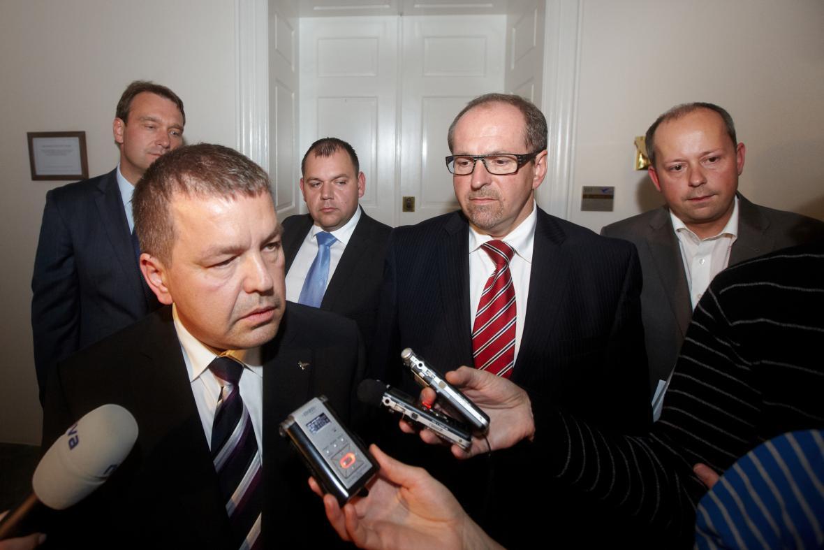Petr Tluchoř, Ivan Fuksa a Marek Šnajdr