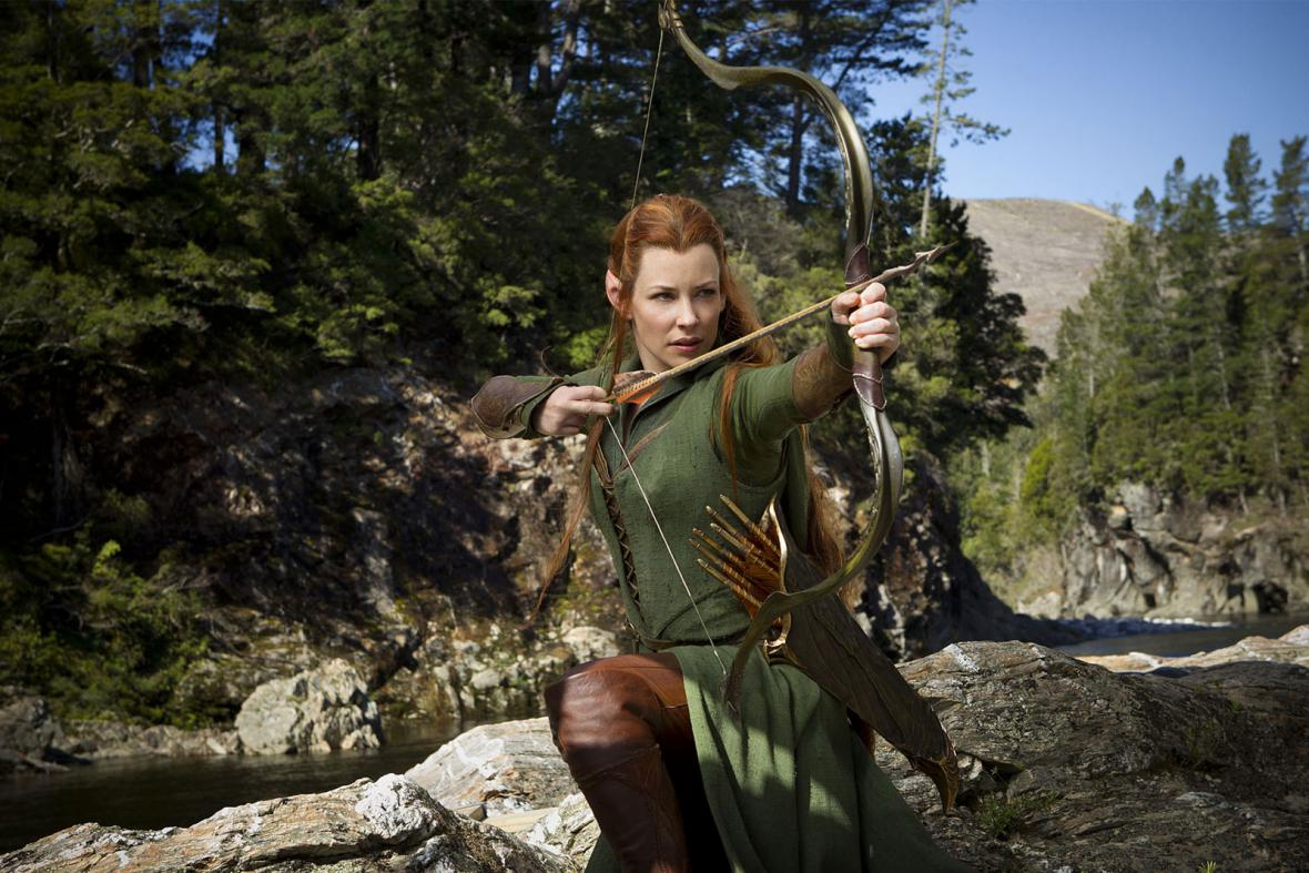 Evangeline Lilly jako elfka Tauriel
