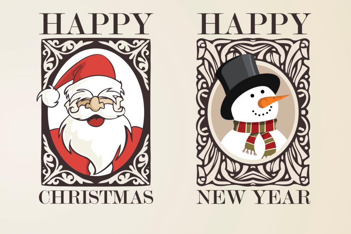 Santa Claus a sněhulák Frosty