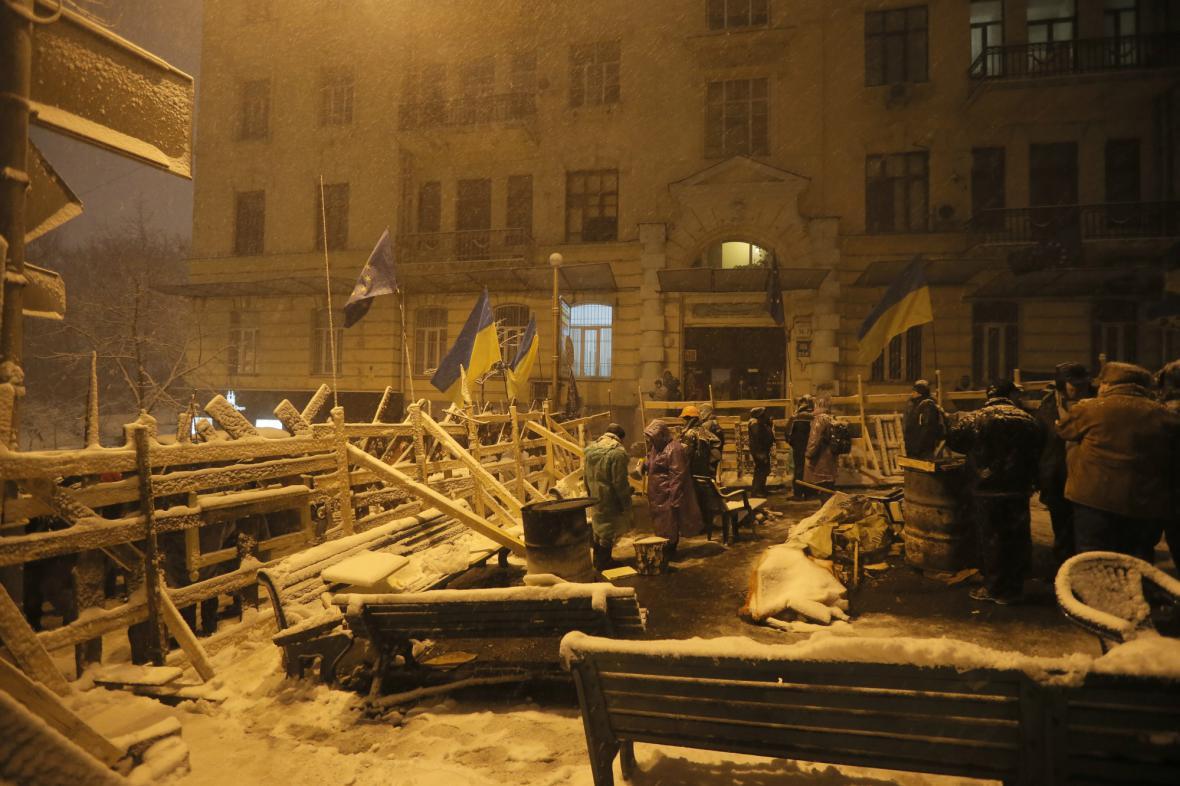 Likvidace barikád v centru Kyjeva